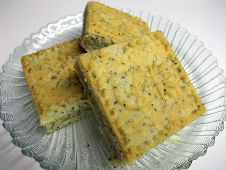Lemon Poppyseed Shortbread